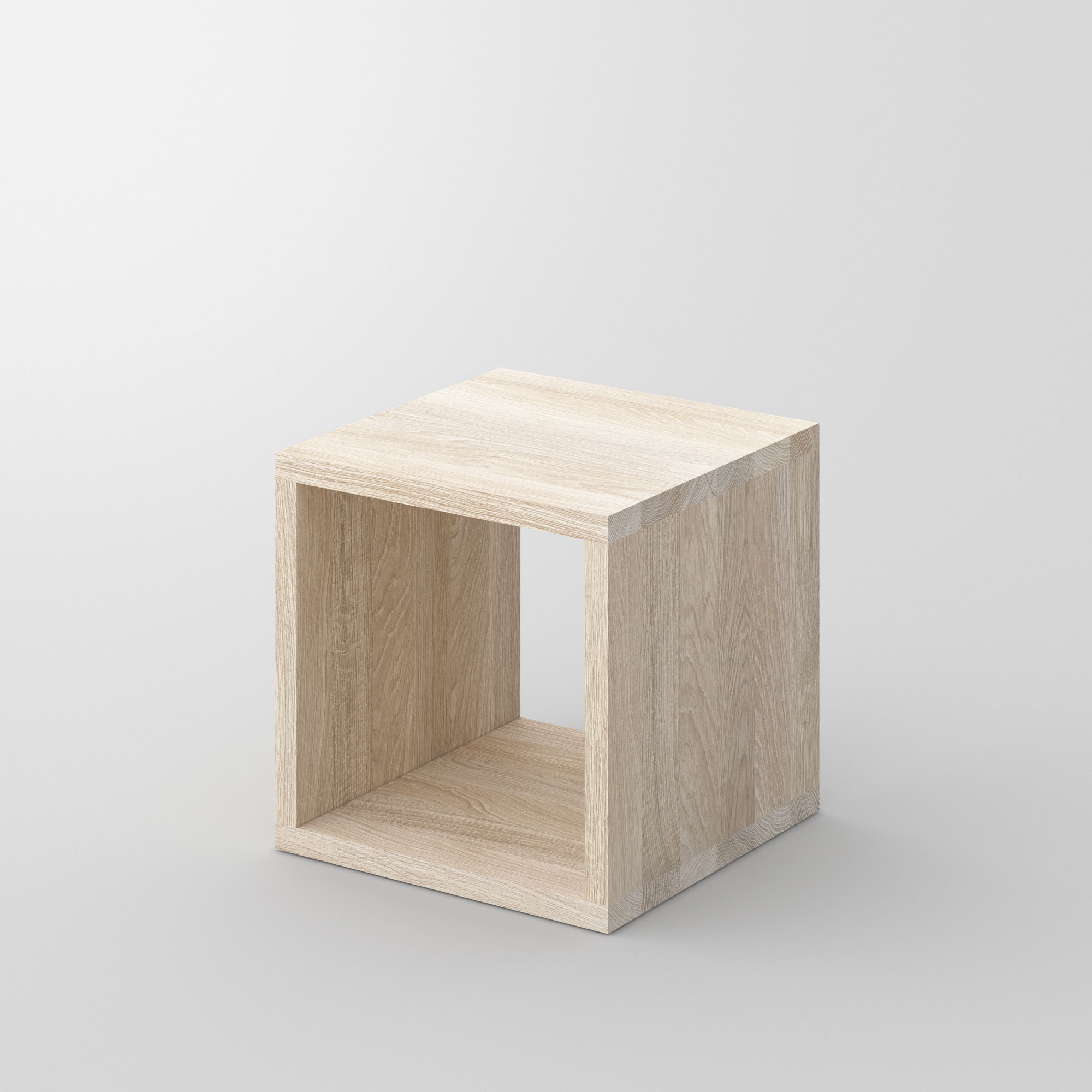 Solid Wood Night Table MENA B cam1 custom made in solid wood by vitamin design