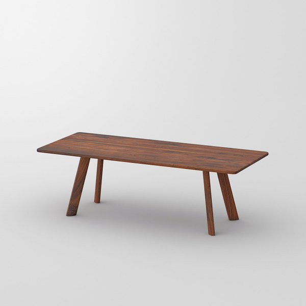 Designer Dining Table LARGUS cam1 custom made in solid wood by vitamin design