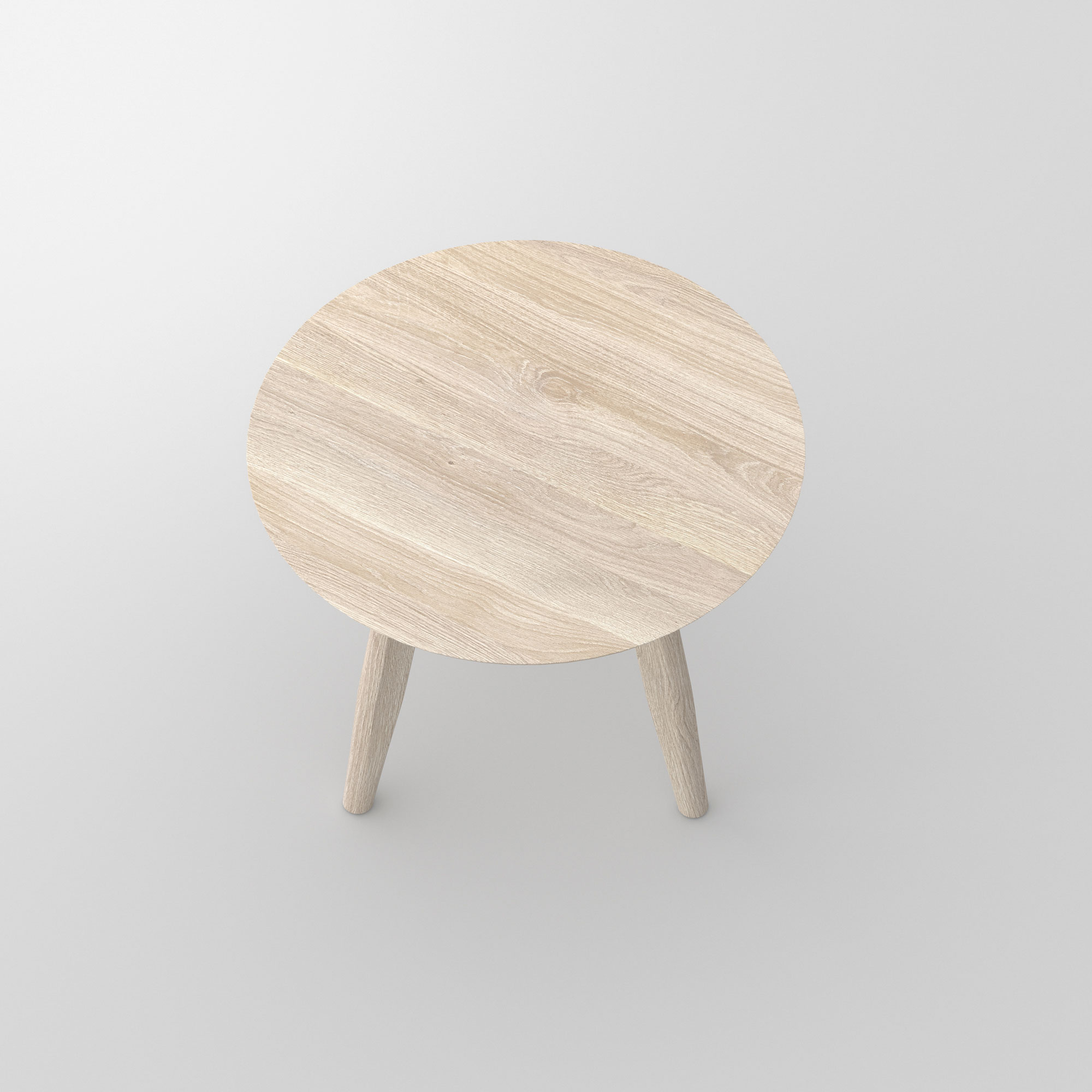 Round Night Table AETAS ROUND cam2 custom made in solid wood by vitamin design