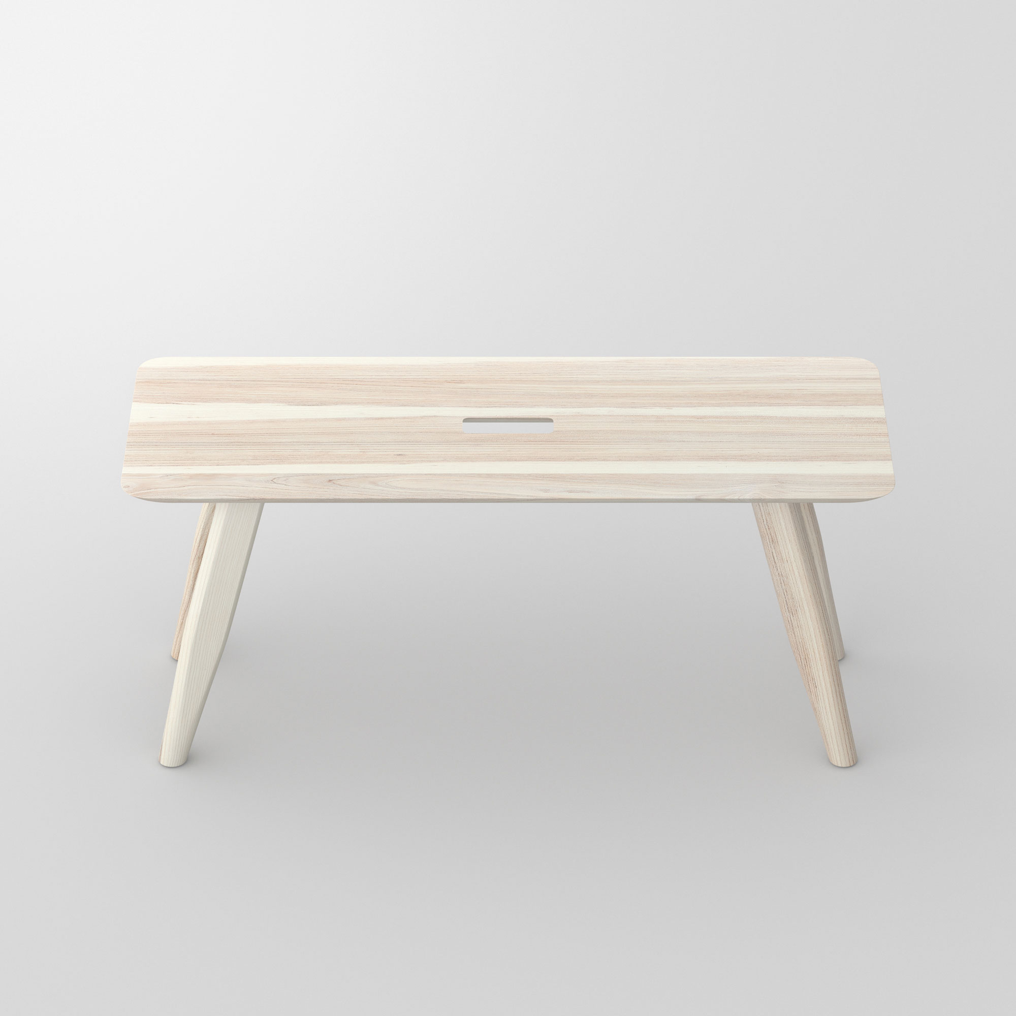 Designer Bench AETAS cam2 custom made in solid wood by vitamin design