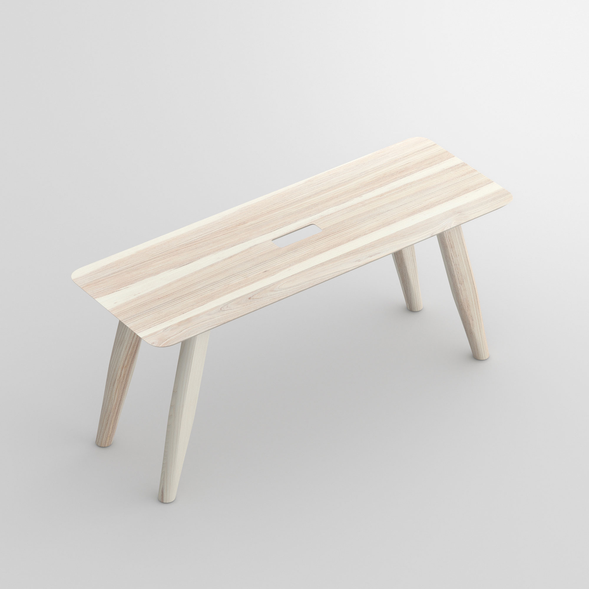 Designer Bench AETAS cam1 custom made in solid wood by vitamin design