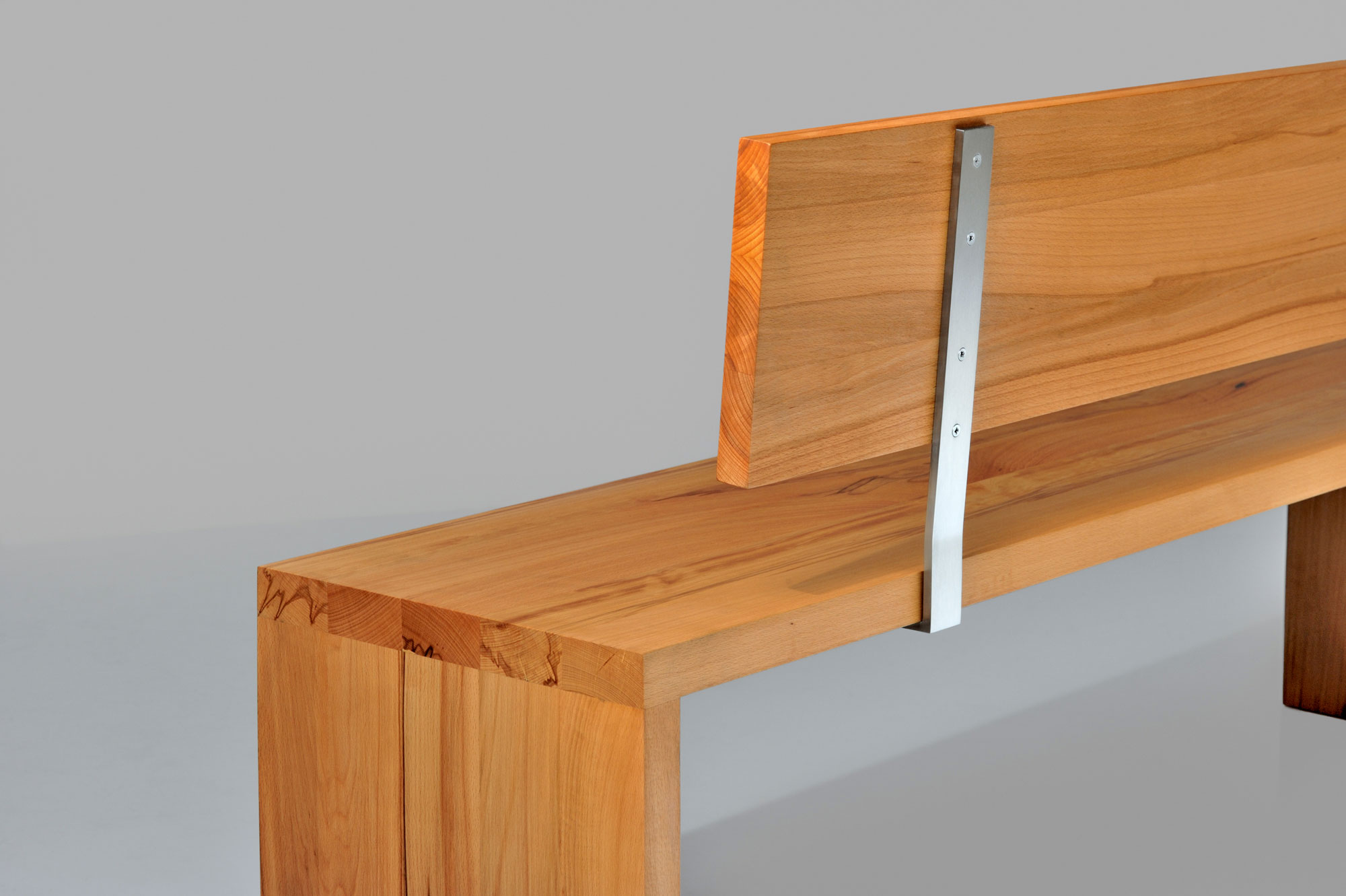 Custom Made Bench MENA 4 nef0380 custom made in solid wood by vitamin design