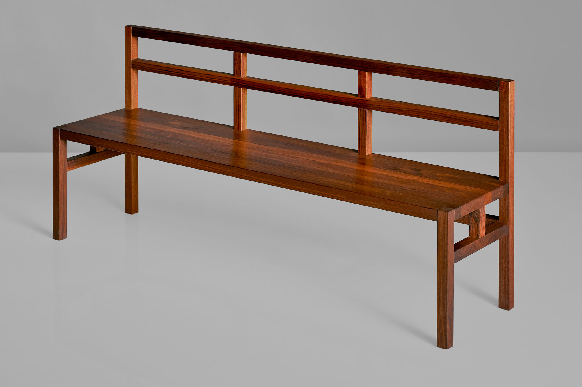 Bench with Backrest SENA RL viA custom made in solid wood by vitamin design