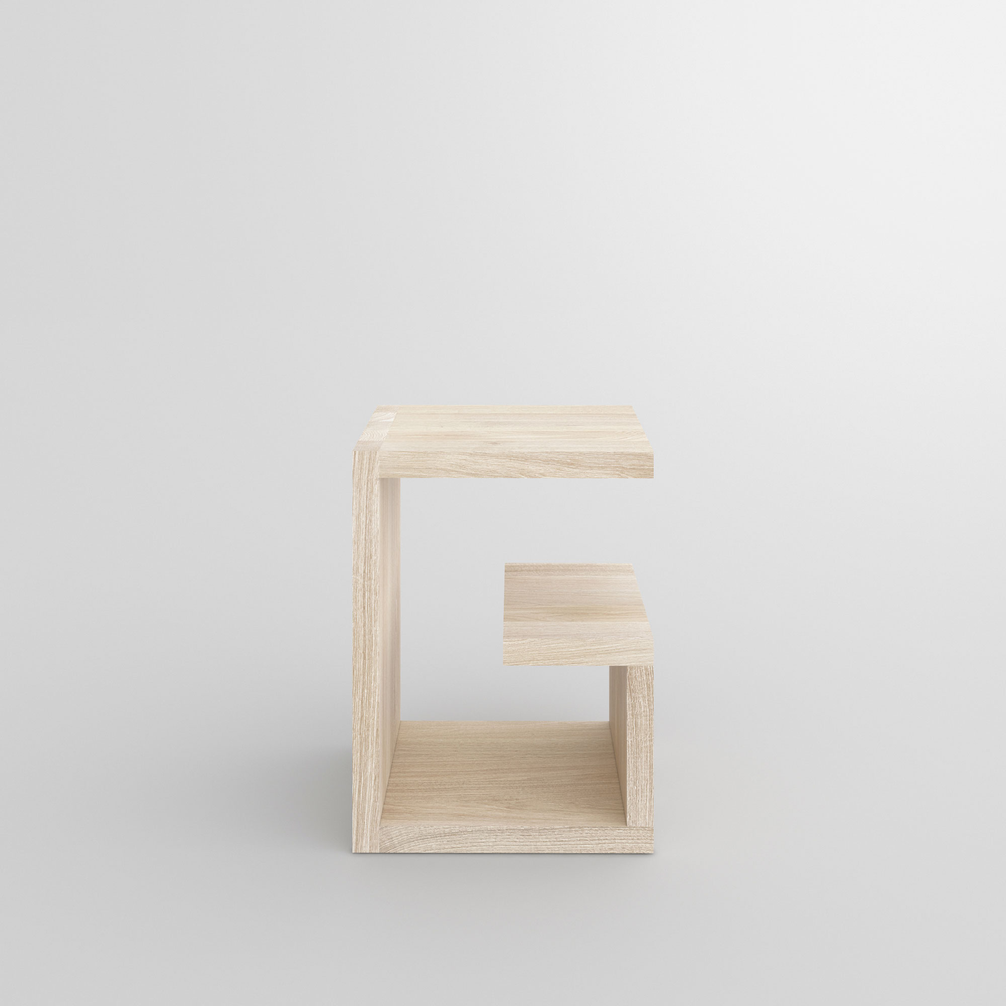 Design Wood Stool MENA G 4 custom made in solid wood by vitamin design