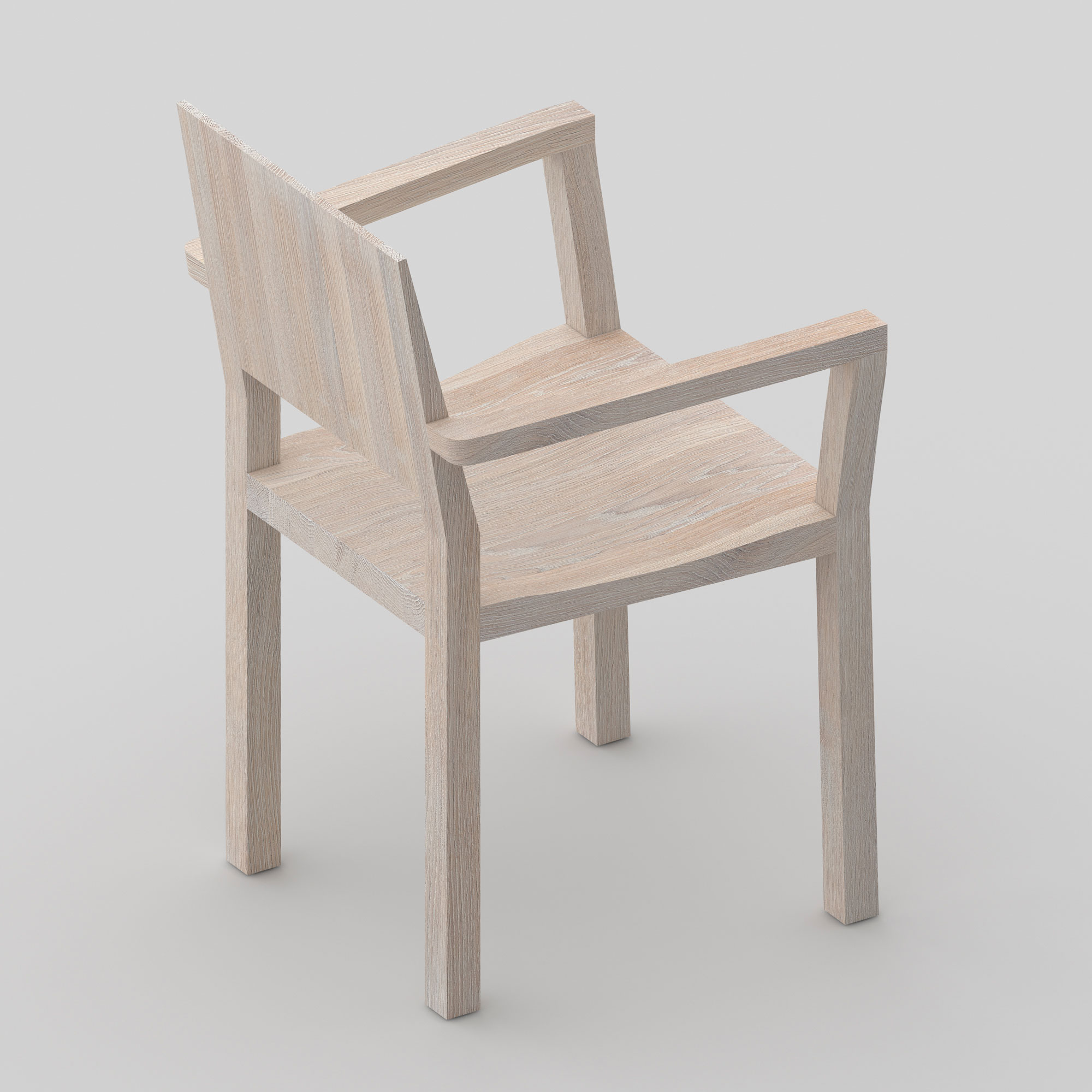 Solid Wood Armchair TAU-A cam3 custom made in solid wood by vitamin design