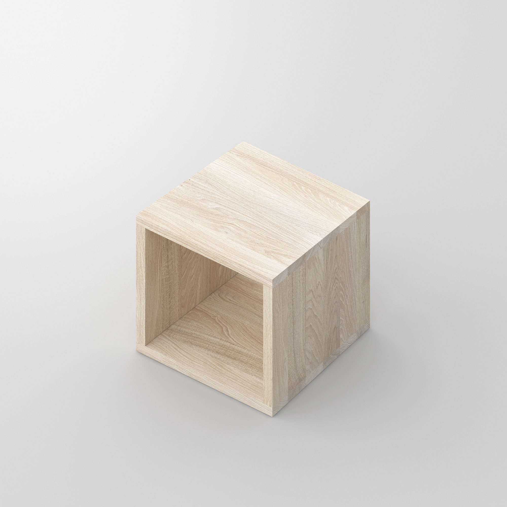 Solid Wood Night Table MENA B cam3 custom made in solid wood by vitamin design