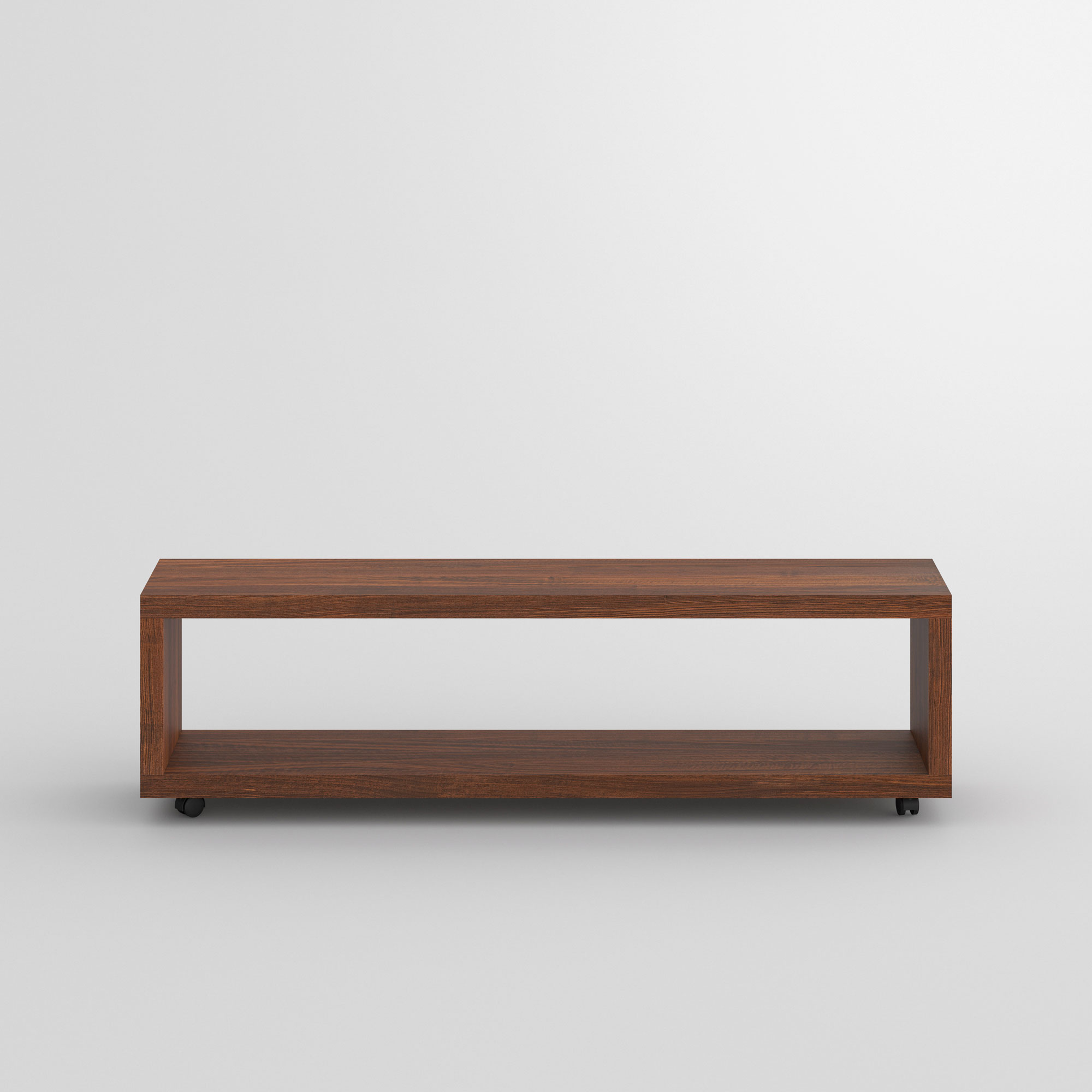 Rolling Night Table MENA-B-ROL cam2 custom made in solid wood by vitamin design