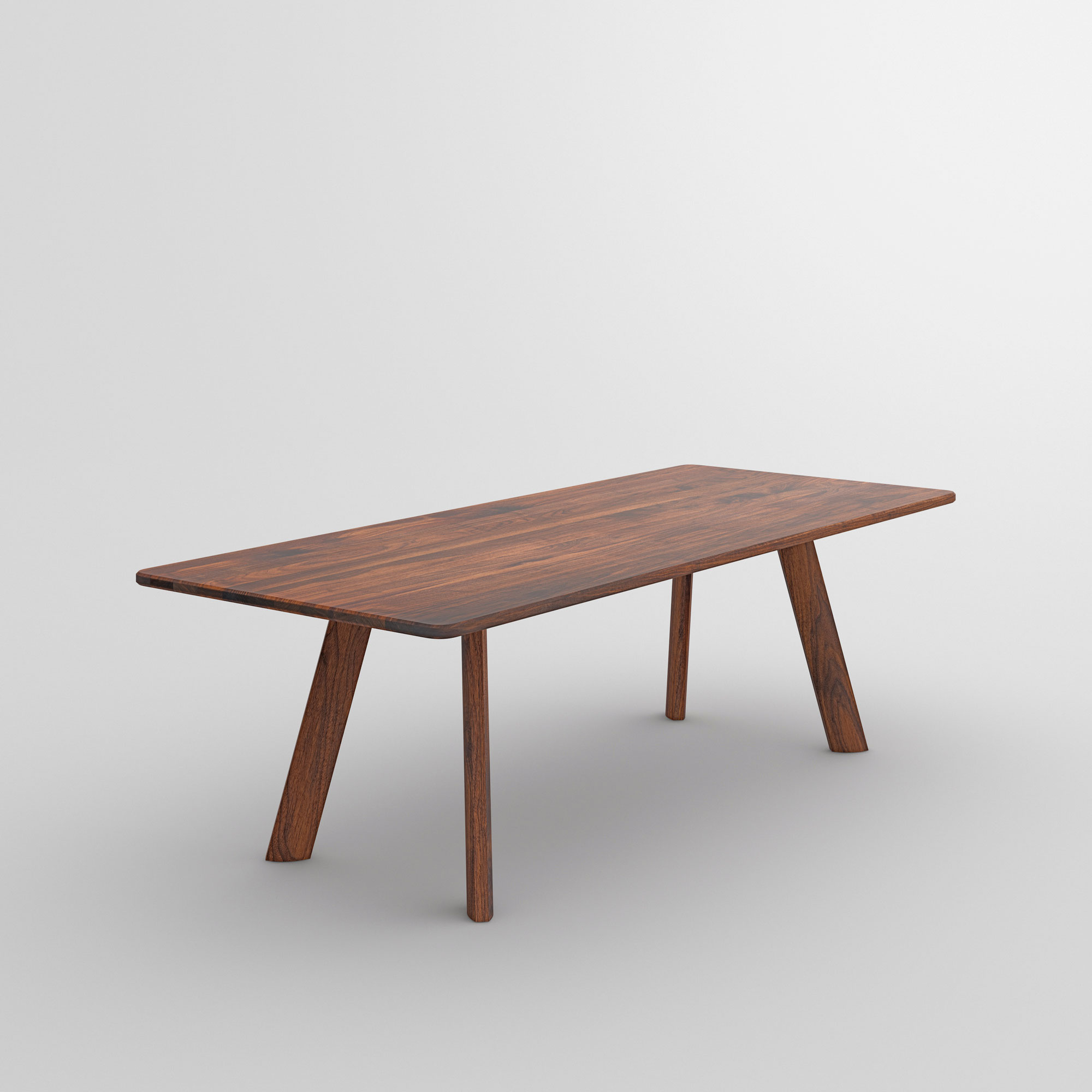 Designer Dining Table LARGUS cam2 custom made in solid wood by vitamin design