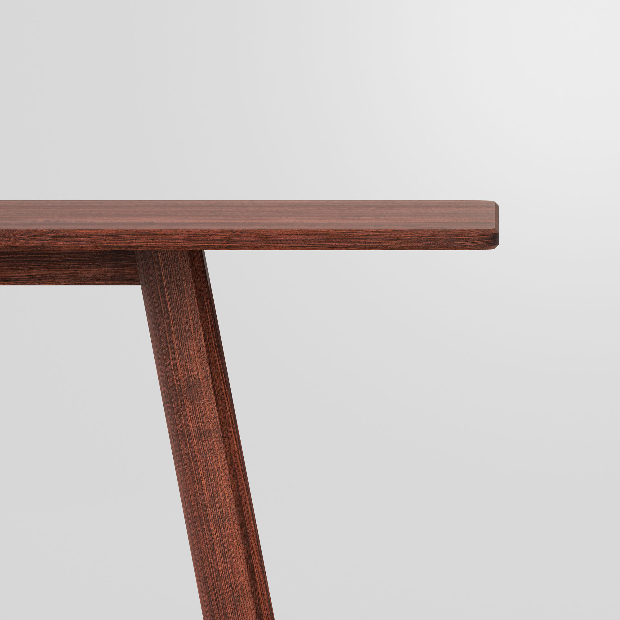 Designer Dining Table LARGUS cam5 custom made in solid wood by vitamin design