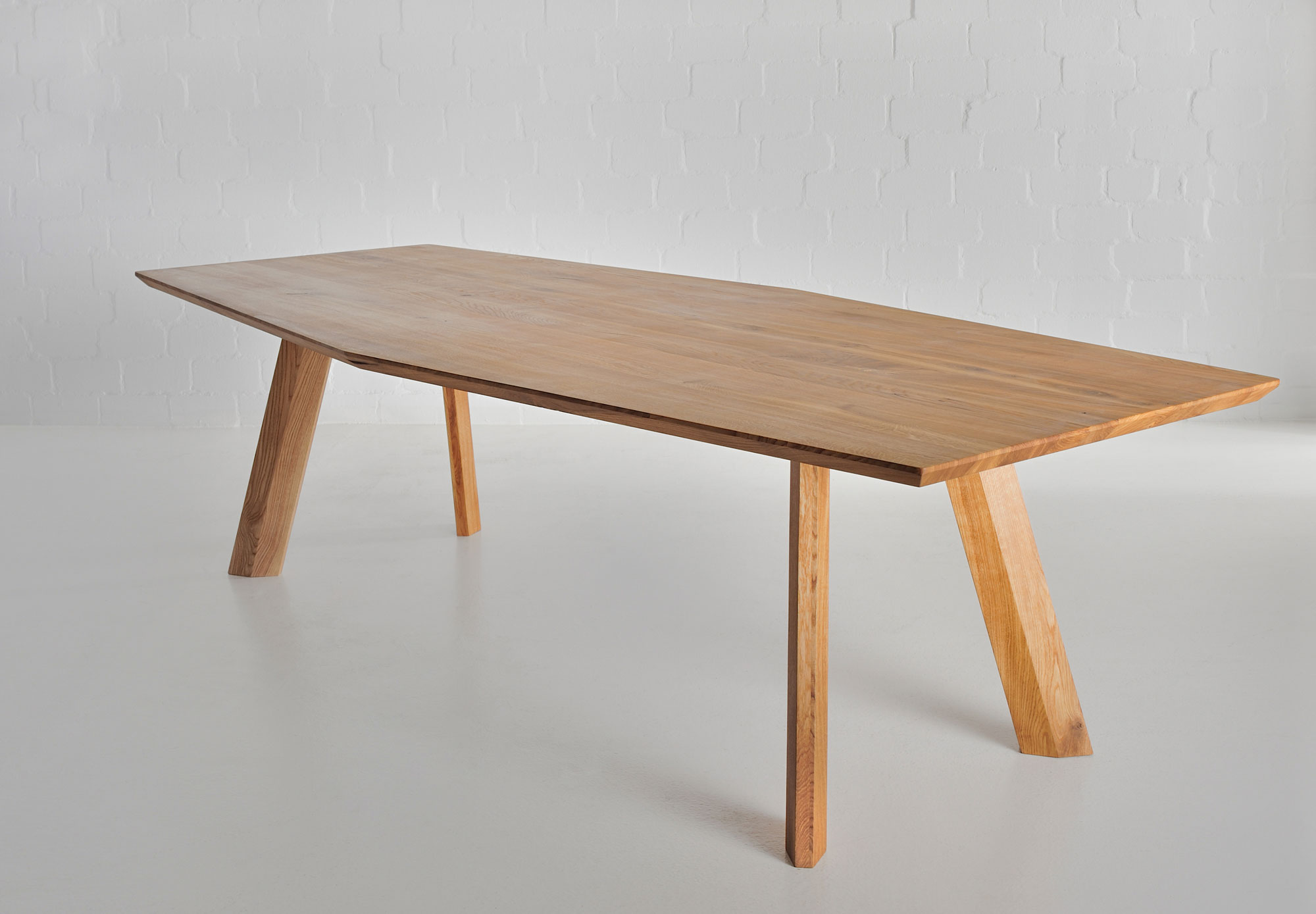 Designer Dining Table RHOMBI a custom made in solid wood by vitamin design