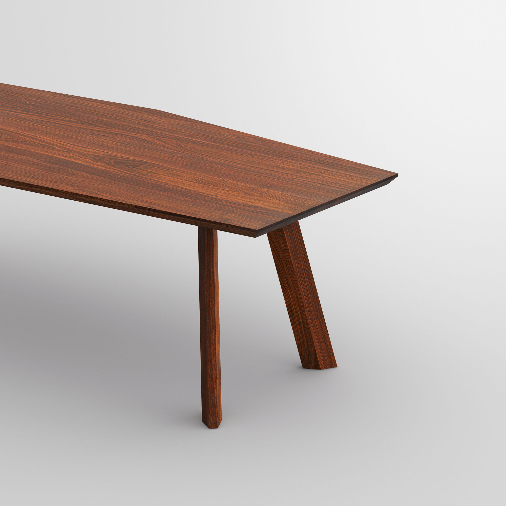 Designer Dining Table RHOMBI cam2 custom made in solid wood by vitamin design