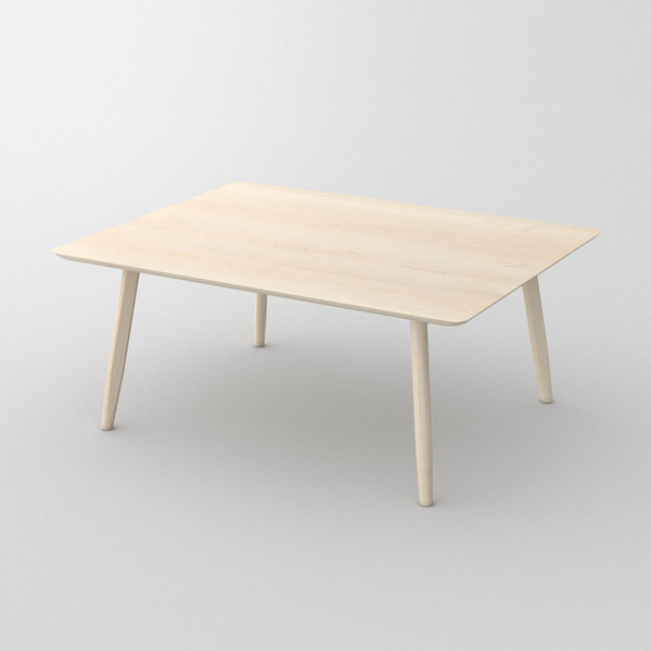 Designer Solid Wood Table AETAS custom made in Solid American maple, chalked by vitamin design