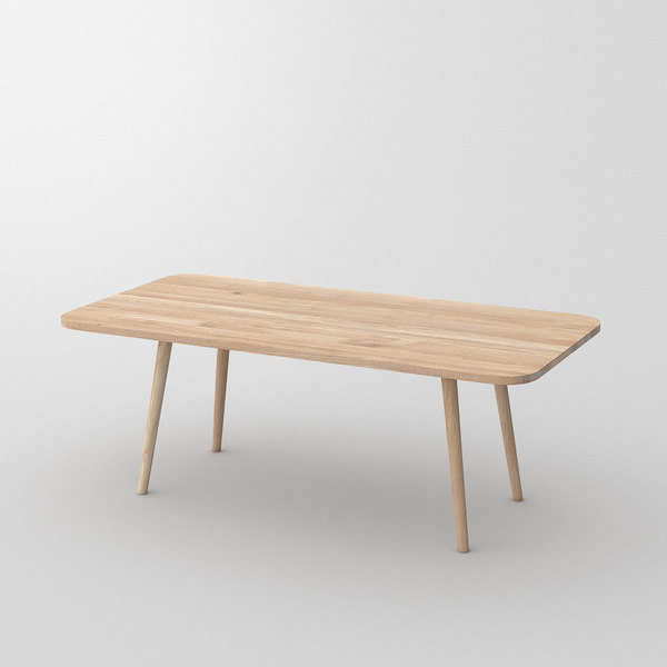 Table UNA cam1 custom made in Solid oak, chalked by vitamin design