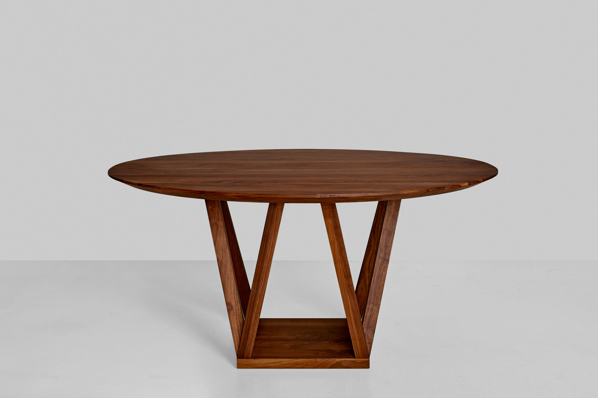 Linoleum Design Table CREO LINO 0988 custom made in solid wood by vitamin design