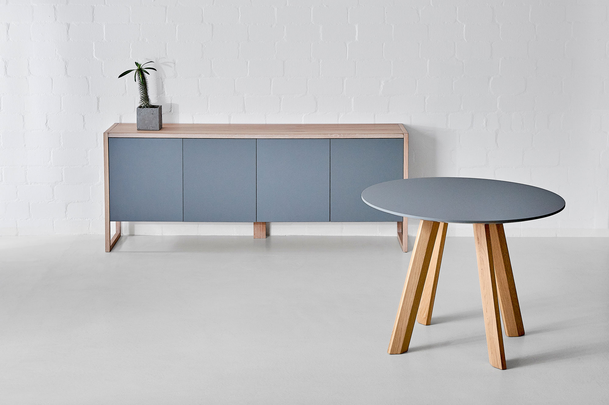 BIO-MDF Wood Sideboard SENA Edited custom made in solid wood by vitamin design