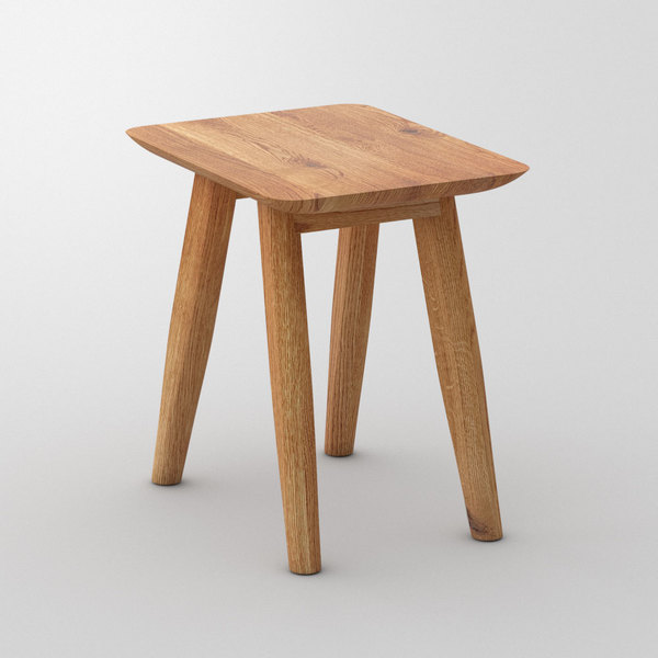 Designer Stool AETAS cam1 custom made in Solid knotty oak, oiled by vitamin design